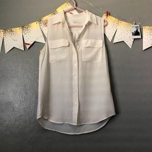 Equipment white sleeveless tank 100% silk sz. XS
